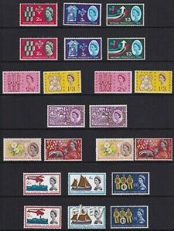 All 285 GB Commemotative Stamps Including All Phosphors Superb Unmounted Mint