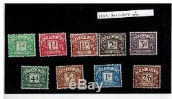 FULL SET 1924 BLOCK CYPHER POSTAGE DUE SG D10 D18 superb unmounted mint
