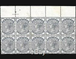 GB QV SG187 1883-84 1/2d Slate Blue Block of 10 Unmounted Mint Fine quality Rare