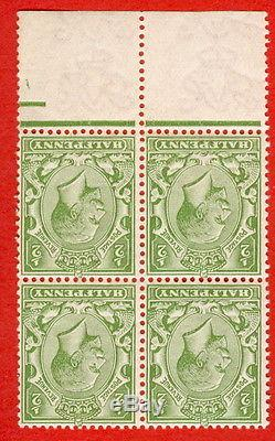 SG. 354 wk Variety N14 (11) e. ½d Bright yellow green. A SUPERB unmounted mint