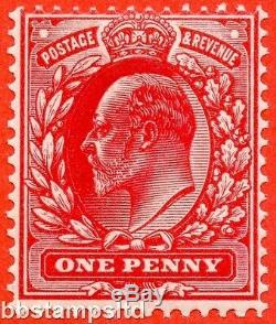 SG. M5 (UNLISTED). 1d Intense Bright Scarlet. A superb UNMOUNTED MINT example
