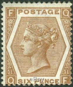 Sg 122 6d Deep Chestnut Plate 11. A superb unmounted mint example
