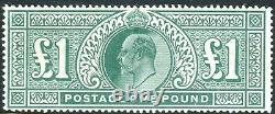 Sg 266 £1 Dull Blue Green. A superb unmounted mint example