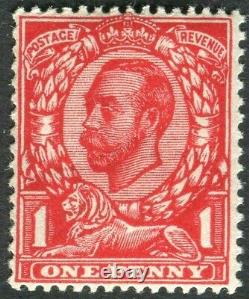 Sg 341 Spec N11 (4) 1d Very Deep Bright Scarlet. A superb unmounted mint