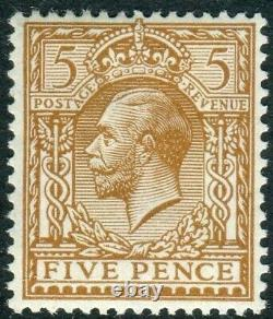 Sg 382a 5d Brown NO WATERMARK. A superb unmounted mint example