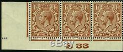 Sg 420 Spec N35n 1½d Red Brown WHITE SPOT ON DOLPHIN. A superb unmounted mint
