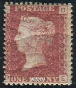 Sg 43 1d Red Plate 204. A superb Post Office fresh unmounted mint example