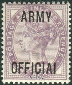 Sg O43 1d Lilac OVPT ARMY OFFICIAL I FOR L. A superb unmounted mint example